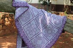 Blanket with Borgach kit made by Hilda Steyn